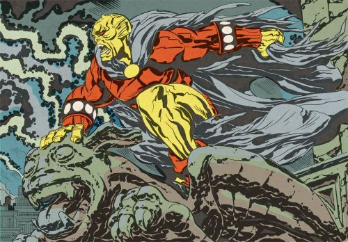 deddale:  The Demon  artwork by Jack Kirby
