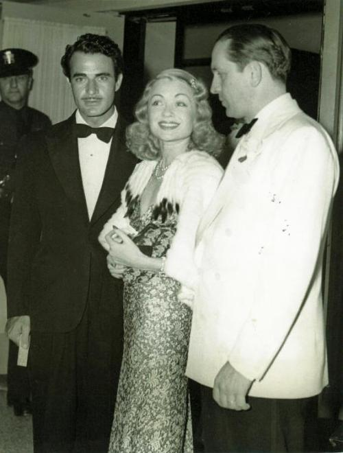 donadrake:  Gilbert Roland, Constance Bennett and Fredric March at a party c. 1937