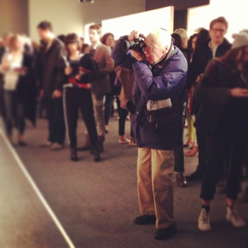 Bill Cunningham, New York. #nyfw #mbfw (via @longlivecool)