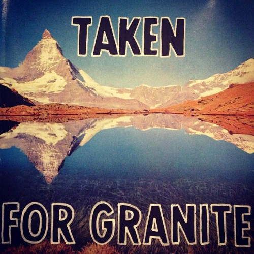 Taken for Granite. #handdrawn #type #typography #thriftstore #andyandyandy #misusedidioms