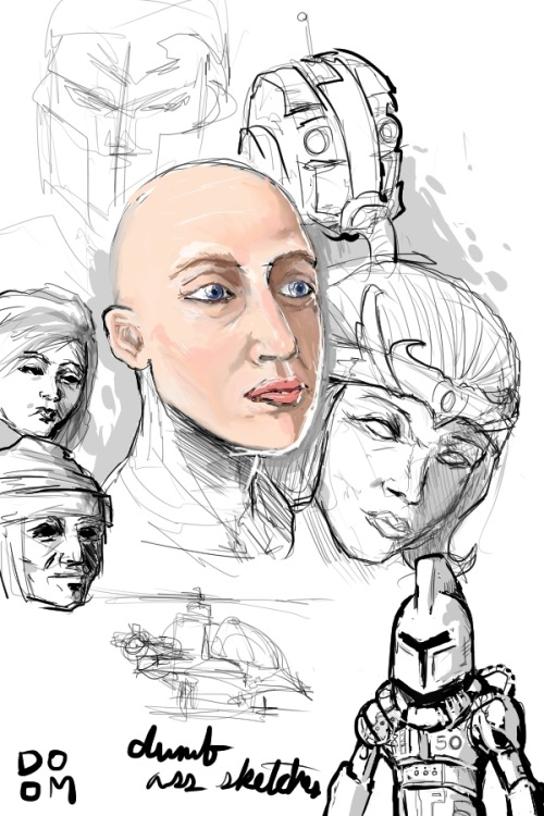 Sketches 1 Just sketching in Manga Studio 5. No photo reference. Trying to get the form of the face and shadows down. Also tried to make some skin tones and other things. You'll see more sketches like this on my tumblr.