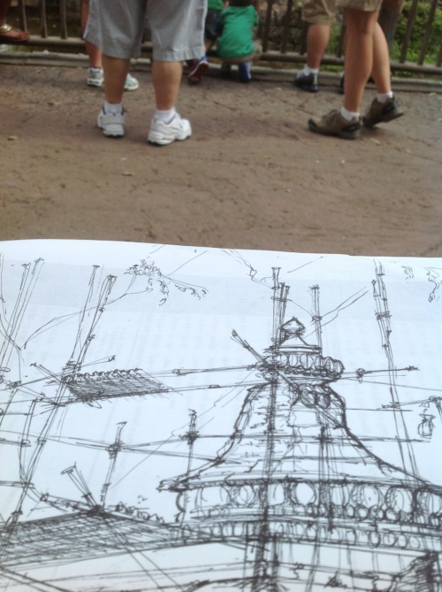 sparkysdoodle:  Sketching at animal kingdom…