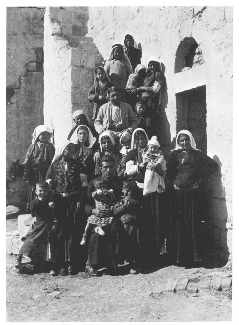 An extended family in the village of Beit Sahur, near Bethlehem.(from Khalil Raad collection , Palestine 1918-1935 era )