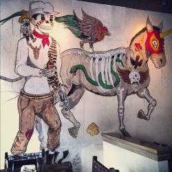 Totally great mural and totally amazing brunch at The Painted Burro in Davis. by Tess Aquarium on Flickr.