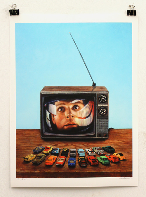 """At the Drive-In"" is my new print for sale through my bigcartel store! It's a signed and editioned print of only 100. Paper size is 18 x 24 inches on thick Museo paper. http://allaninnman.bigcartel.com/product/at-the-drive-in-print Get it, while it's hot!"