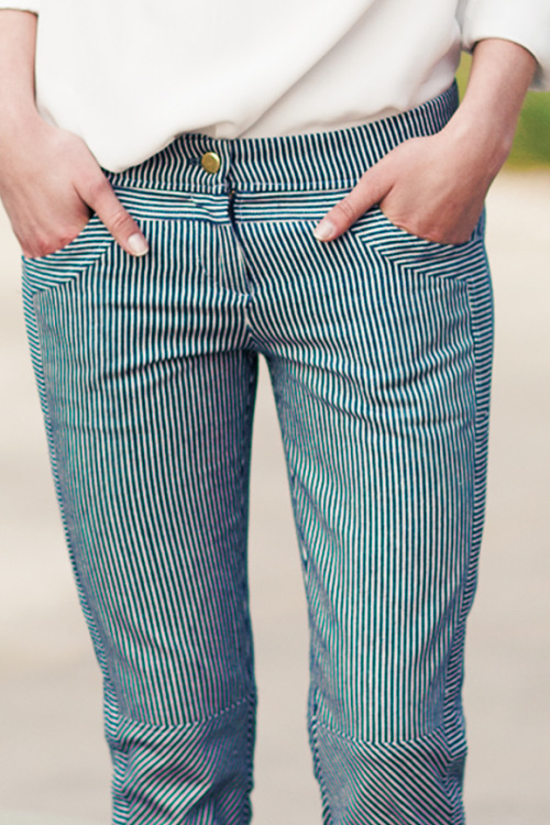 efspreview:  Railroad Stripe Cut Pant