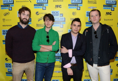 Chris Tomson, Ezra Koenig, Rostam Batmanglij and Chris Baio of Vampire Weekend attend the green room photo op for the screening of 'At Any Price' during the 2013 SXSW Music, Film + Interactive Festival at the Paramount Theatre on March 16, 2013 in Austin, Texas. (Photo by Michael Buckner/Getty Images)