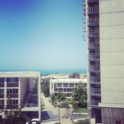 Hey look. #ocean #view from #ucsd #dorms. ♡ #beach #scenery #college #summer