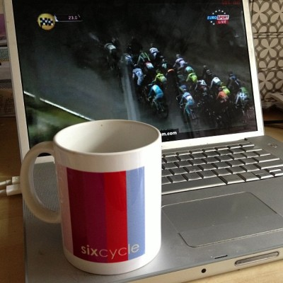 Poggio! Poggio! Poggio! That's what we're waiting for @ #MilanSanRemo - #grimpeur - Remember da #instaexperiment: 1. Follow @teamsixcycle & @grimpeurbros on Instagram & Facebook. https://www.facebook.com/TeamSixcycle https://www.facebook.com/GrimpeurBrosSpecialtyCoffee 2. Post your own bike race pictures from this weekend or this week's midweek races. 3. Tag your picture with: #TeamSixcycle #GrimpeurBros #RideYourBike #DrinkGreatCoffee - That's it. Post photos thru Sunday night 3/17. We'll pick our fave photo Monday afternoon. Photos will be judged in a totally arbitrary & subjective manner (composition, bike, color, etc.) This is not a contest. It's something fun to do at this weekend's races. Don't campaign for likes. FYI the mug is from my (#ATX HQ) personal collection. Have fun with it! #cycling