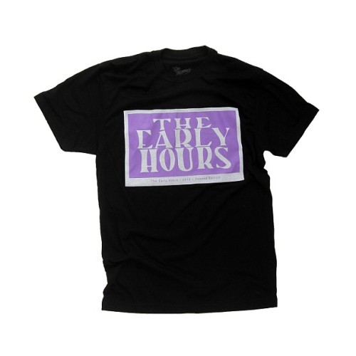 The Purple and White Logo Tee. Available now at TheEarlyHoursClothing.com | #theearlyhours | Never Hesitate, Never Surrender