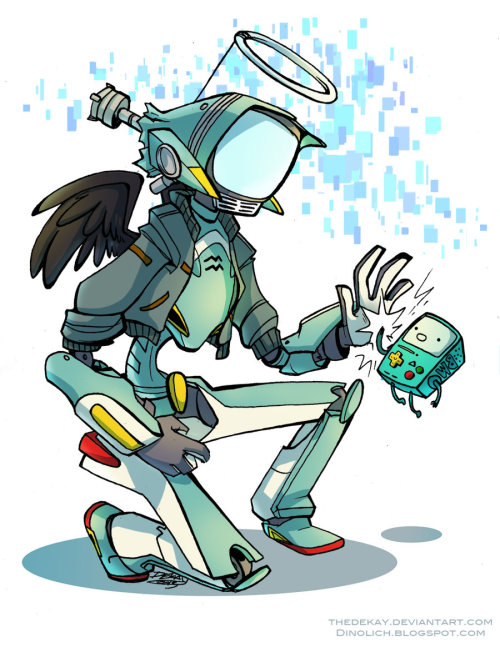 goggledsmileyragface:  dinolich:  Robo-Buddies by ~TheDeKay Took a break from cosplay to draw two of my favorite robots.  Shit this is really cute and you're an awesome artist i want you to know  aaaaaahhhhhhh o.o