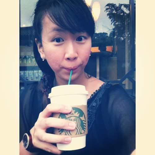 Chilling at Starbucks while raining after the big Buddha (; just nice. Sunshine after rain ^.* #chilling #starbucks #hongkong #rainy #bigbuddha  (at Walking with Buddha 與佛同行)