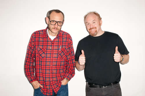 terrysdiary:  Me and Louis C.K. at my studio #2