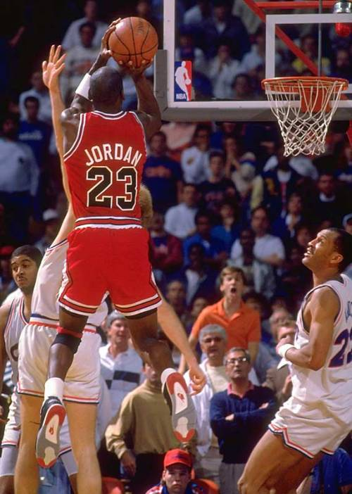 justjordans:  Jumpman Jordan.  MJ in the Air Jordan IV - from Drunk Intellect