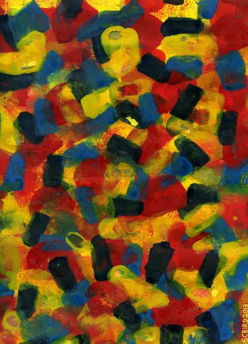 """Dusty Indigo Blue Red Yellow"" (Fragment) — Stephen C. Bird, 2013"