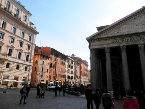 cestmavieenbleu:  The Pantheon at the Piazza della Rotonda, Rome