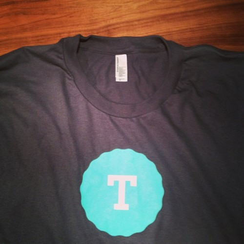 New @Tutorspree tee's w/ new branding and a capital T.