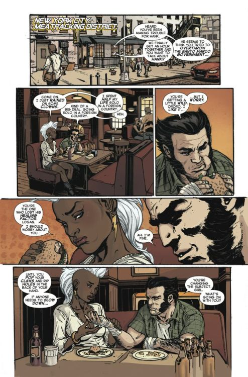 ororomunroe:Another Storm #2 preview, featuring a variant cover by Pasqual Ferry, courtesy of The AV Club. Read more about the issue at the source.