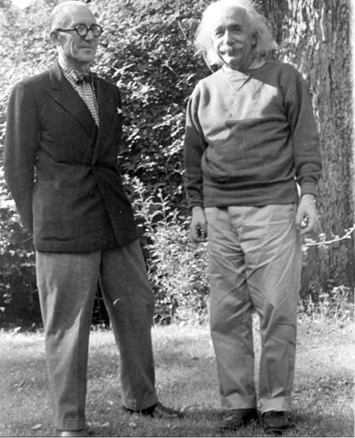 philocalic:  Le Corbusier + Albert Einstein.