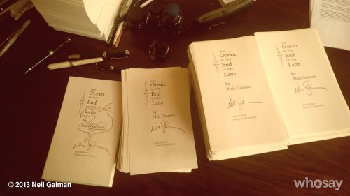 girlnamedkatie:  neil-gaiman:  On the final stretch of pre-signing. When I get bored I draw ghosts. View more Neil Gaiman on WhoSay   Neil, you drew me a rat. I was 13 and now, almost a decade later, its still one of my favorite things. Thanks Neil!  And suddenly, 11 years of drawing rats on Coralines feels perfectly justified.