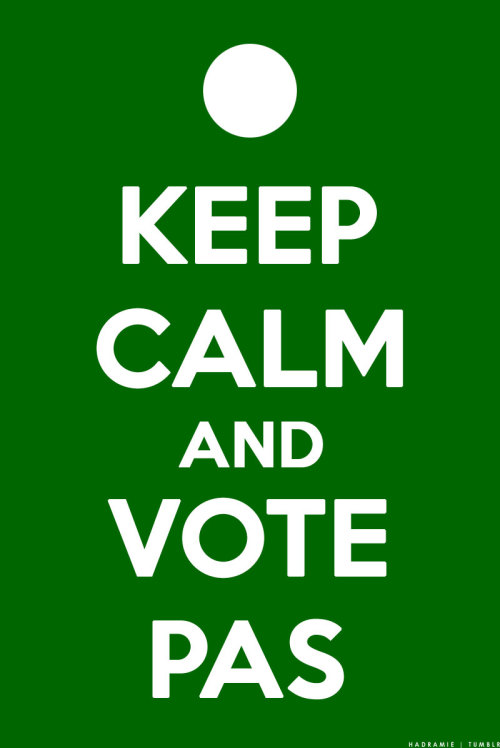 KEEP CALM AND VOTE PAS