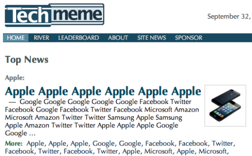 (via Techmeme's top 20 headline terms of 2012, and what they signify - Techmeme News)