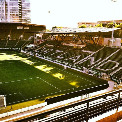 Favorite stadium in the US.  Jeld Wen u r the shizzle. @timbersfc #roadtrippin