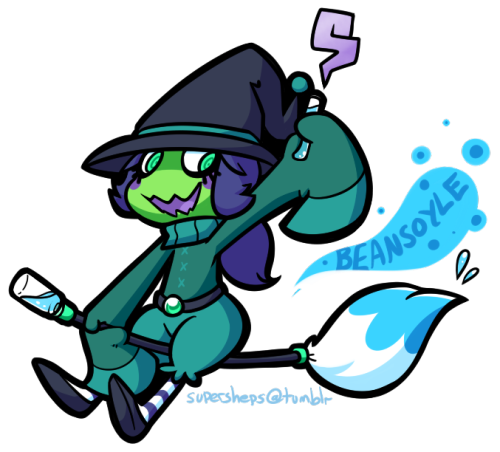 aruesso:  bean forever (lil potion witch, golly)  hfffFFFFFFFFFF SO CUTECUTE BEANBEAN ALERT