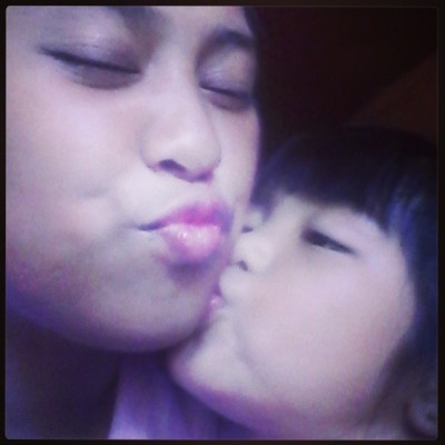 I got a kiss from sofia :** (at San Gabriel Village, Tuguegarao City)