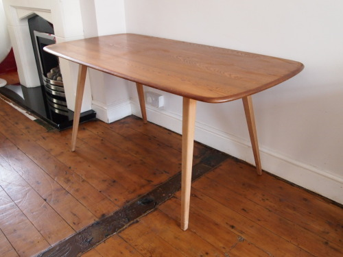 Designer: Lucian Ercolani Maker: Ercol Model: Plank Dining Table Design Year: 1956 Origin: UK Price: POA
