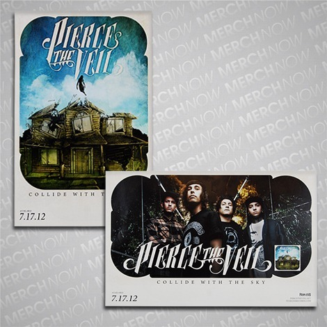 piercetheveil:  Our 'Collide With The Sky' posters are back in stock at MerchNOW! Grab one today!http://fearless.merchnow.com/products/146758/collide-with-the-sky  When I get money I'm getting these :D <3