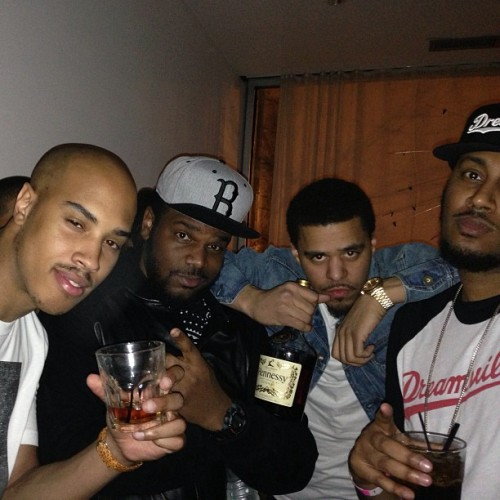mindofahustler:  #lafamilia omen myself j cole and IB …. #coleworld