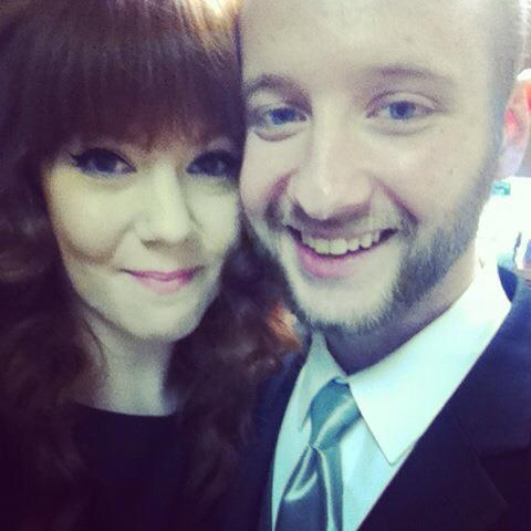 Here we are at my sisters wedding yesterday :3