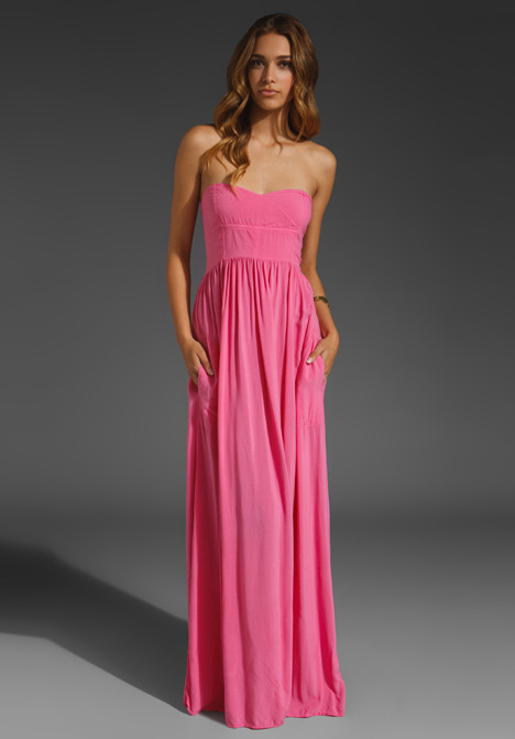 Like this maxi (and its interesting bodice) by Local Celebrity, marked down to $79 (from $121). Still available in size XS/S.