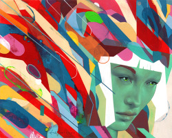 "erikjonesart:  Erik Jones / ""Discoverer"" / Watercolor, Pencil, Pastel, Acylic, Oil, on Rives bfk  / 20""x16"" / 2013"