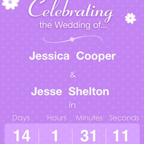 Oh my gosh. It's getting real. #wedding #countdown #freakingoutalittle