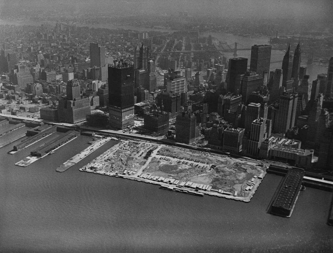 The World Trade Center under construction, New York City