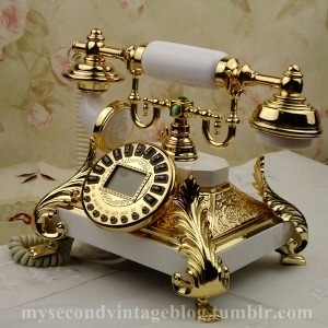 mysecondvintageblog:  golden telephone
