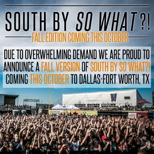 @southbysowhat is so nice, we had to have it twice! …a year lol Come Party with us in October for the Fall Version of SBSW?! For more info, go to www.southbysowhat.com and early bird tickets on sale June 1st!