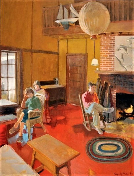 Fairfield Porter, A Day Indoors, 1962, Liquitex on canvas