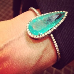 officialstyledotcom:  Silvia Furmanovich's Paraiba with diamonds bracelet. ML