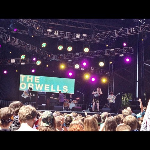 From there I made my way to see The Orwells, who I had never heard of before but they were crazy. #theorwells #lolla2013 #lolla #lollapalooza  (at Lollapalooza 2013)