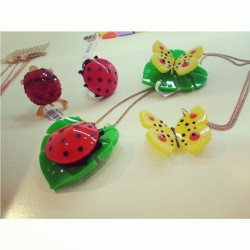 Everything cute #bugs #butterflies #ladybird #necklace #rings #fashion #trend #cute #love #girly #statement