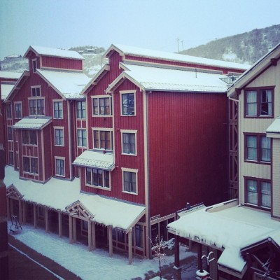 about 9 inches of fresh snow!  (at Park City, UT)