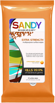 Free Sample Pack of Sandy Extra Strength Multi-Purpose Wipes! (via Sandy Wipes. Because life is dirty.)