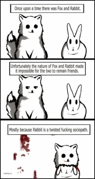 Once upon a time there was a fox and a rabbit. - Imgur