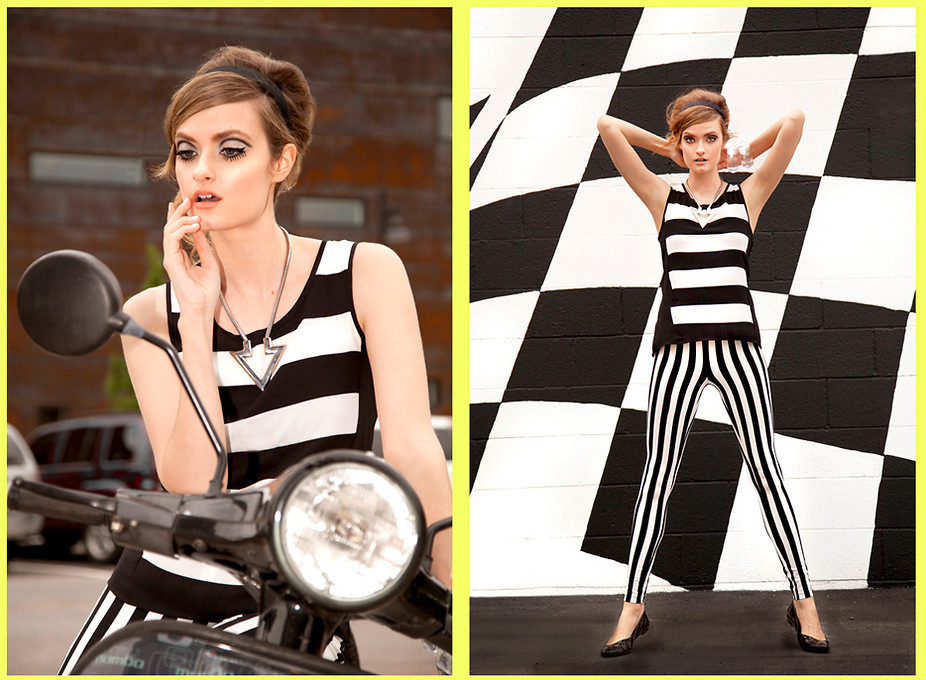 It's a Mod, Mod World  (by Jade Gotcher)Full story on my blog In The Loop   http://in-the-loop-blog.blogspot.com/2013/05/60s-mod-fashion.html#comment-form   #60s #mod #stripes #blackandwhite #twiggy #modfashion #marcjacobs #louisvuitton #beehive #eyelashes