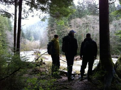 hiking with the guys. Carmanah Walbran Provincial Park, BC, Canada.