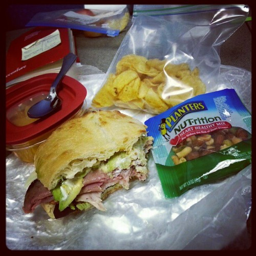 @rayhkim 's mom packed me lunch =D best' to be mother-in-law' award