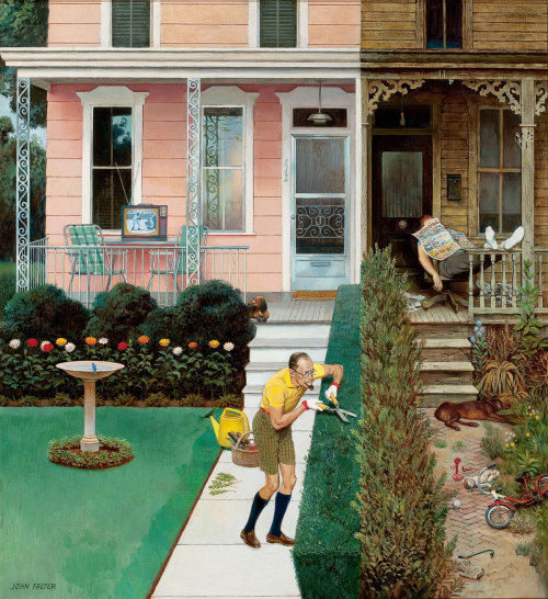 John Falter, Tidy and Sloppy Neighbors, July 1, 1961
